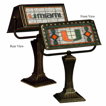 Miami Stained Glass Bankers Lamp