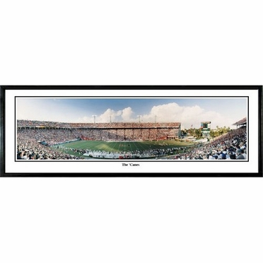 Miami The Canes Framed Panoramic Print