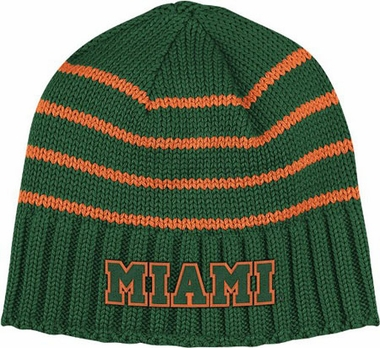 Miami Vault Striped Cuffless Knit Hat