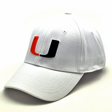 Miami White Premium FlexFit Baseball Hat