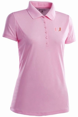 Miami Womens Pique Xtra Lite Polo Shirt (Color: Pink)