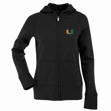 Miami Womens Zip Front Hoody Sweatshirt (Color: Gold)