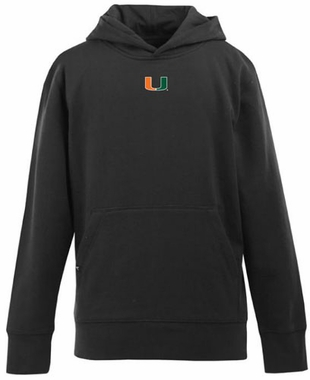 Miami YOUTH Boys Signature Hooded Sweatshirt (Color: Black)