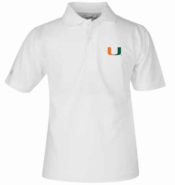 Miami YOUTH Unisex Pique Polo Shirt (Color: White)