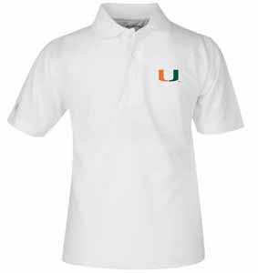 Miami YOUTH Unisex Pique Polo Shirt (Color: White) - X-Large