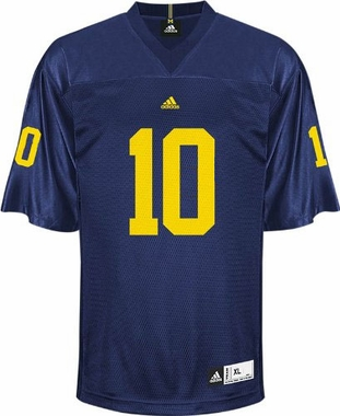 Michigan #10 Adidas Replica Football Jersey
