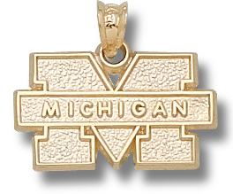 Michigan 10K Gold Pendant