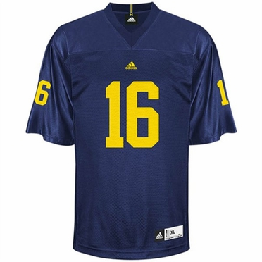 Michigan #16 Adidas Replica Football Jersey