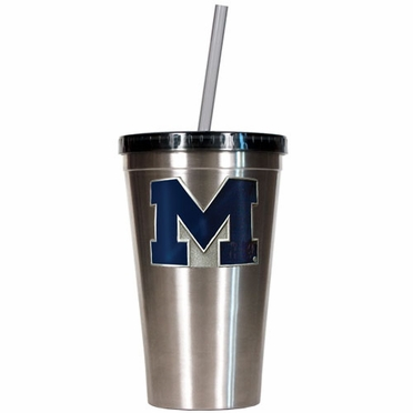 Michigan 16oz Stainless Steel Insulated Tumbler with Straw