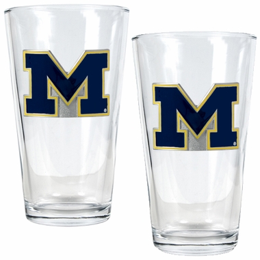 Michigan 2 Piece Pint Glass Set