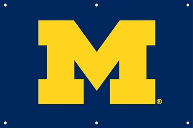 Michigan 2 x 3 Horizontal Applique Fan Banner