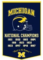 "Michigan 24""x36"" Dynasty Wool Banner"