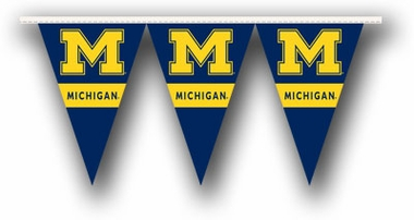Michigan 25 Foot String of Party Pennants (P)