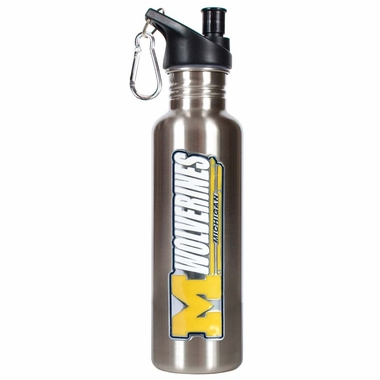 Michigan 26oz Stainless Steel Water Bottle (Silver)