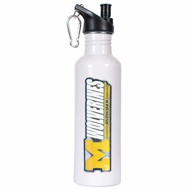 Michigan 26oz Stainless Steel Water Bottle (White)