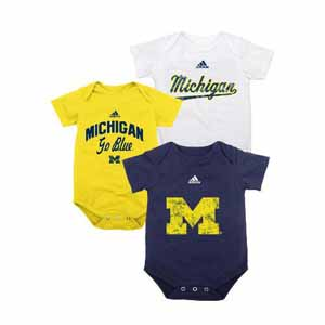 Michigan 3 Pack Distressed Creeper Set - 18 Months