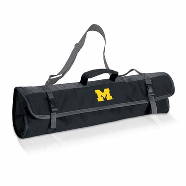 Michigan 3 Piece BBQ Tote (Black)