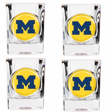 Michigan 4 Piece Shot Glass Set