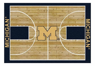 "Michigan 5'4"" x 7'8"" Premium Court Rug"