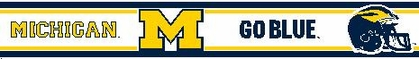 Michigan 5.5 Inch (Height) Wallpaper Border