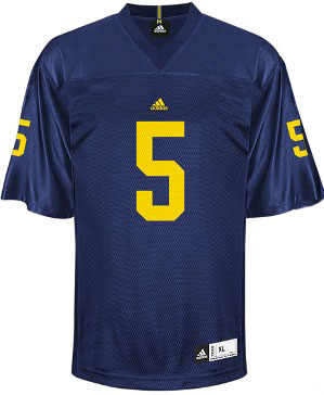 Michigan #5 YOUTH Adidas Replica Football Jersey