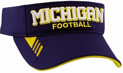 Michigan Adidas Coaches Visor