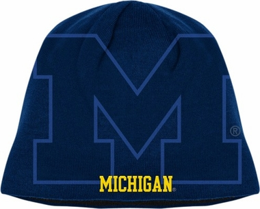 Michigan Adidas Reversible Big Logo Knit Hat
