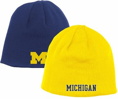Michigan Adidas Reversible Knit Hat