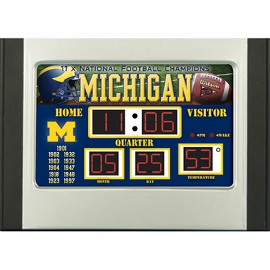 Michigan Alarm Clock Desk Scoreboard