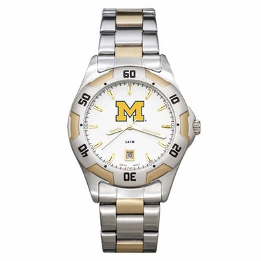 Michigan All Pro Two Tone Watch