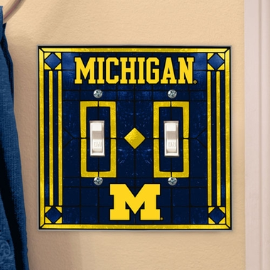 Michigan Art Glass Lightswitch Cover (Double)