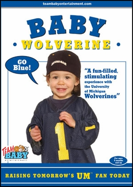 Michigan Baby Wolverine DVD