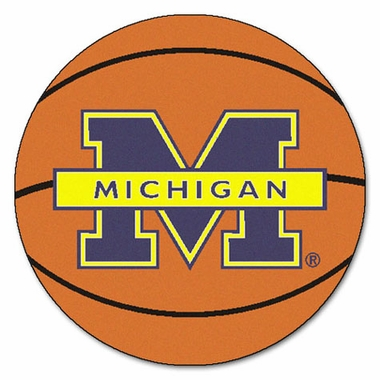 Michigan 27 Inch Basketball Shaped Rug