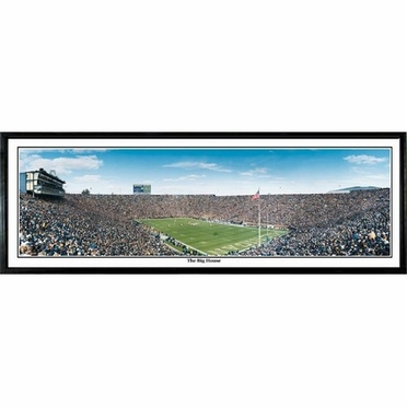Michigan Big House Framed Panoramic Print