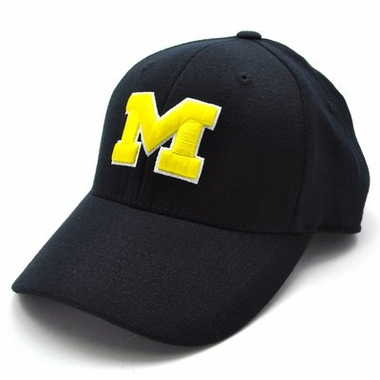 Michigan Black Premium FlexFit Baseball Hat
