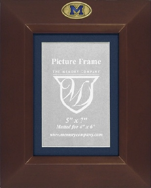 Michigan BROWN Portrait Picture Frame