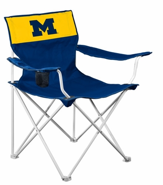 Michigan Canvas Adult Folding Logo Chair