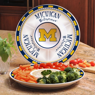 Michigan Ceramic Chip and Dip Plate