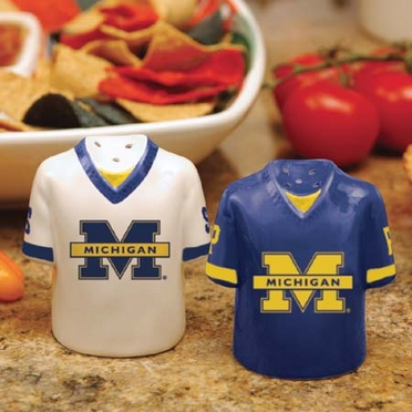 Michigan Ceramic Jersey Salt and Pepper Shakers