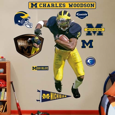 Michigan Charles Woodson Fathead Wall Graphic