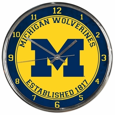 Michigan Chrome Clock