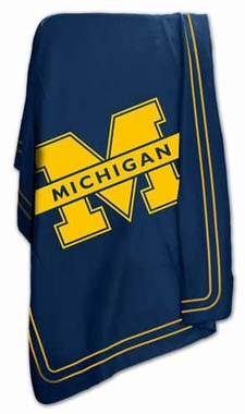 Michigan Classic Fleece Throw Blanket