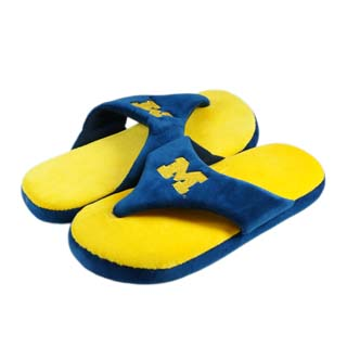 Michigan Comfy Flop Sandal Slippers - Large