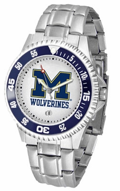 Michigan Competitor Men's Steel Band Watch