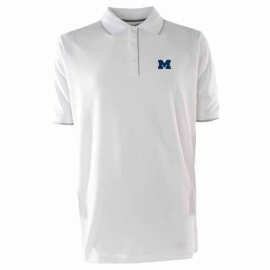 Michigan Mens Elite Polo Shirt (Color: White)