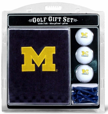 Michigan Embroidered Towel Golf Gift Set