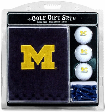Michigan Embroidered Towel Gift Set