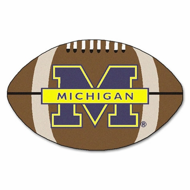 Michigan Football Shaped Rug