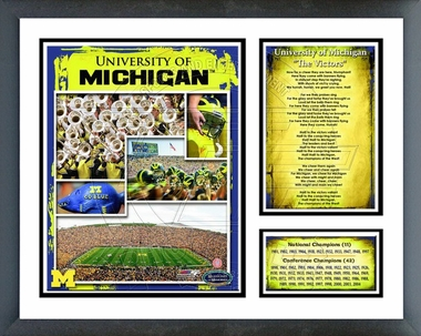 Michigan  Framed Milestones & Memories #187