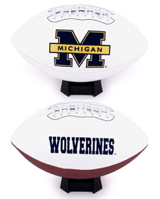 Michigan Wolverines Full Size Embroidered Signature Series Football